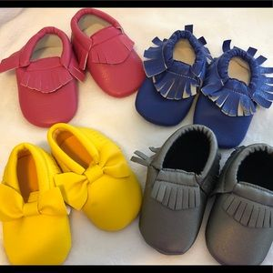 Other - Adorable Just Like New 4 Pairs Baby Moccasins
